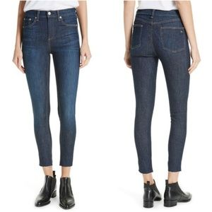 Rag & Bone High Waist Skinny Ankle Jeans Mad River